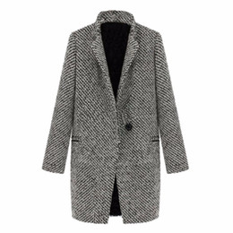 $enCountryForm.capitalKeyWord Canada - WEIXINBUY 2016 Vintage Women Autumn Spring Long Coat Parka Jacket Trench Wool Blends Lapel Outwear ZT1