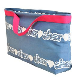 $enCountryForm.capitalKeyWord Canada - Big Capacity Mom Canvas Handbag Foldable Bag Multifunctional Shopping Totes Bags Two Usage White Paern Printing