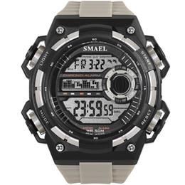 $enCountryForm.capitalKeyWord UK - Sport Quartz Digital Watches Male Watch SMAEL Sport Watch for Men Waterproof Relojes Hombre1385C White Digital Watches