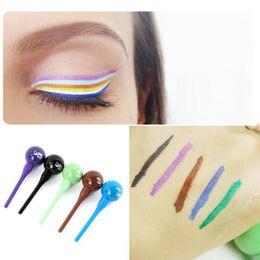 $enCountryForm.capitalKeyWord Australia - Wholesale New Arrival Lollipop Shape Women Beauty Cosmetic Waterproof Liquid Eyeliner Eye Liner Pencil Pen Makeup 12G