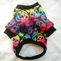Skull Sweater jacket online shopping - New Pattern Dog Apparel Pet Supplies Sweater Clothes Colors Print Skull Thickening Vests Winter Excellent Workmanship Creative sp7 ff