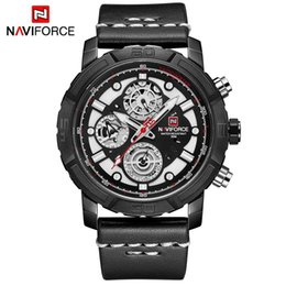 $enCountryForm.capitalKeyWord NZ - NAVIFORCE Men Watches Leather Men's Quartz 24 Hour Date Clock Analog Quatz Watch Sports Watch Relogio Masculino 9139