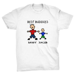 $enCountryForm.capitalKeyWord NZ - Great Discount Cotton Men Tee Personalised Best Buddies Father's Day T-shirt, dad, daddy, friends, father son O-Neck T Shirt