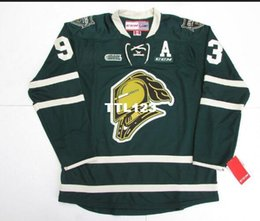 $enCountryForm.capitalKeyWord Canada - Real Men real Full embroidery #93 MITCH MARNER OHL LONDON KNIGHTS GREEN PREMIER 7185 HOCKEY JERSEY or custom any name or number Jersey