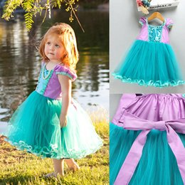 Childrens wedding dresses wholesale online shopping - 2018 INS Girls TUTU Dresses New Arrival Childrens Mermaid Dresses Kids Princess Pageant Formal Wedding Dress Fast In Stock Shipping