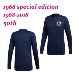 3626c8f01ed Männer Sonderausgabe Manchester United Fußballtrikot Manchester United 1968- 2018 50. Jahrestag LONGS SLEEVE 2018 Fußballtrikot Trikot