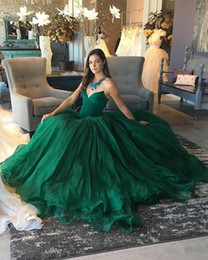 Wholesale 2018 Dark Green A line Prom Dresses Long Formal Evening Gowns Vestidos de Fiesta Special Occasion Dress