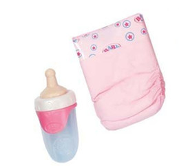 Free Christmas Gifts For Children Australia - Free Shipping Doll accessories,2pcs lot Bottle+diapers for 43cm Baby Born zapf Children best Birthday Gift Christmas gif