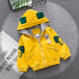 $enCountryForm.capitalKeyWord NZ - Baby Boy Girl Child Kids Yellow Pink Cartoon Letter Zipper Animal Hooded Coat Jacket Windbreaker Outerwear Autumn Clothes Coats