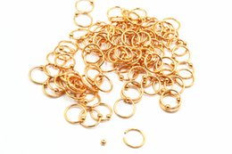rose gold nose piercing NZ - 50pcs Free Shippment Rose Gold Surgical Steel Gauges Nose Ring Lip Ring Nipple Eyebrow BCR Body Piercing earring tragus ring