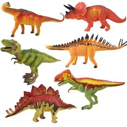 Wood Animal Figured Toys NZ - Lifelike Dinosaur Model Figures Toy Simulation Animal Action Figure Home Decoration Garage Kit Toys Gift For Collector 8yc WW