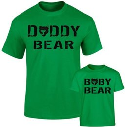 715e9577 Daddy Bear Baby Bear Father Daddy Son Daughter Bear Family Matching T  shirts Funny free shipping Unisex Casual tee gift