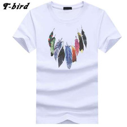 t shirts bird men UK - T Bird 2018 Summer The New Men T Shirt Short Sleeve O Neck Print Tshirt Fashion Brand Mens Cotton Cosy T-Shirt Male Tops 4XL