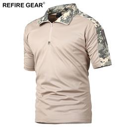 $enCountryForm.capitalKeyWord NZ - ReFire Gear Men's Outdoor Hiking T Shirt Summer Camping Camouflage T-shirt for Man Breathable Pocket Short Sleeve T Shirts