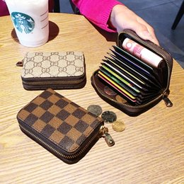 China No brand fashion purse zipper card bag female organ card clip credit card set small zero wallet travelling purse cheap small set table suppliers