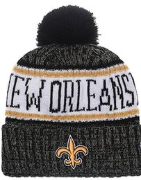 Chinese  Top Selling Saints beanie NO beanies Sideline Cold Weather Reverse Sport Cuffed Knit Hat with Pom Winer Skull Caps 00 manufacturers
