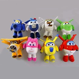 Figures Australia - Super Wings Robot Aircraft Model Toy Action Figures Plush Toys Superwings Anime Doll Stuffed Toys Kids Birthday Gifts 20cm