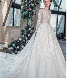 $enCountryForm.capitalKeyWord Australia - 2018 luxury wedding dress high-end Gorgeous wedding dresssA line embellished with 3D flowers, silk threads, sequins, pearls and crystals.07