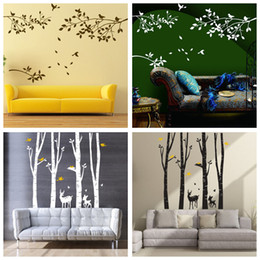 Chinese 3d Wall Stickers Australia - 4 Designs Part of Forest Wall Stickers Wallpaper Paper Peint 3d Home Decor Bathroom Kitchen Accessories Household Suppllies