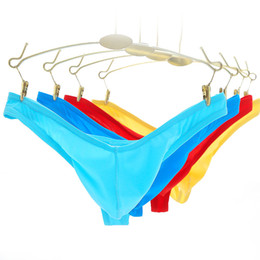 eb0fa6a92853 Mens Ice Silk Micro Penis Pouch Thongs and G Strings Low Waist Man Sexy  Bikini Tangas T Back Panties Male Gay Underwear Lingerie