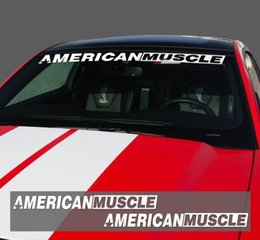 Front Window Stickers Australia - 2pieces AMERICANMUSCLE Bold Text GT Front & Rear Window Windshield Logo Banner Vinyl Decal Stickers for Ford Mustang 2015-2017