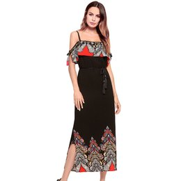 Swimwear deSignS for women online shopping - 5 Designs Spaghetti Strap Dress Womens Holiday Sleeveless Dresses Ladies Maxi Long Summer Print Beach Dress Plus Size Swimwear for women