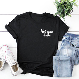 cd28f1266a2 Women s Tee Not Your Babe Corner White Pocket T Shirt Women Sexy Fashion  Clothing T Shirt Summer Style Cotton Funny Tshirt Casual Female Tee