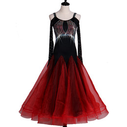 Wholesale grade dance dresses resale online - Fashion New Modern dance performance competition clothing high grade flash drill National standard dance dress