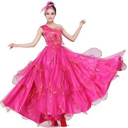 84ec472c7cee Chinese Folk Dance Custome Female Chorus Dress Opening Spanish Flamenco  Dance Dress Flamengo Custome 360 540
