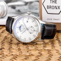 $enCountryForm.capitalKeyWord NZ - Luxury Watches Men Fully Automatic Mechanical Movement Leather Strap Moon Phase Design Waterproof 30M Designer Wristwatches Montres