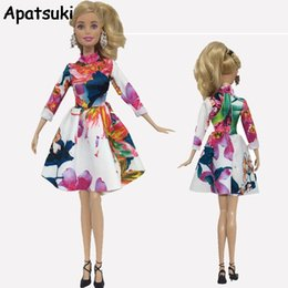 6e50e097bfaf3 Kids Toy Fashion Clothes For Dolls Colorful Long Sleeve Short Dresses For  Dollhouse 1 6 Doll Accessories
