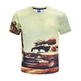 3dddbbb78c5a2 car printed t shirts 2019 - Car Printing 3D T-shirt Men Tshirt Short Sleeves