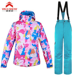 woman s ski suit Australia - 2018 New Winter Wild Snow Ski Suit Women Sets Windproof Breathable Waterproof Women Snow Jacket+Pants Warm Clothes Set