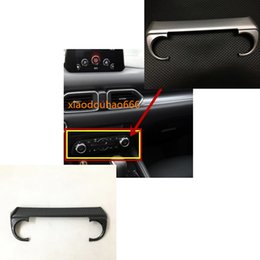 $enCountryForm.capitalKeyWord UK - car styling body trim middle Air conditioning switch temperature Button Outlet Vent panel part For Mazda CX-5 CX5 2nd Gen 2017 2018 1pcs