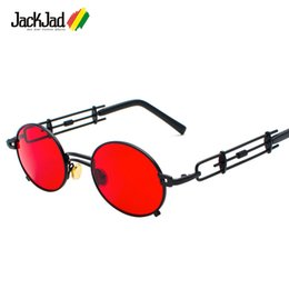 38331745ba9b JackJad Metal Oval Frame Steampunk Gothic Vampire Sunglasses Unique 980s  Sun Glasses Cosplay Styling Oculos De Sol 896