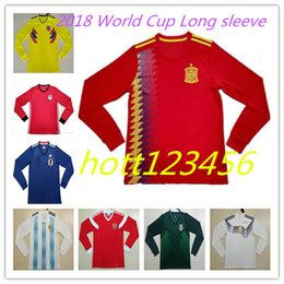 Top quality 2018 World Cup Long sleeve Argentina Egypt Mexico Japan soccer  jersey 18-19 Spain Colombia Russia OZIL Long sleeves shirts 81f6488fd