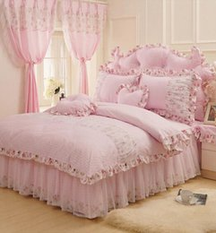 Pink Green Girls Bedding Canada - Cotton rustic pink green flower bedding set,teen girl full queen king,nordic country bedclothes bedspread pillowcase quilt cover