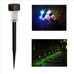 Luci solari a LED a LED Paesaggio Garden Path Puntata Lampada solare in plastica LED Spike Lights IP55 illuminazione a led per esterni