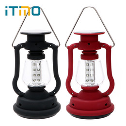 rechargeable emergency lanterns NZ - ITimo Hand Generator Camping Lantern LED Portable Hiking Adventure Solar Lamp Emergency lamp