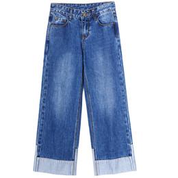 China Boyfriend Jeans For Women 2018 Hot Sale Vintage Mid Waist Jeans Denim Washed Wide Leg Pants Woman cheap jeans loose legs for women suppliers