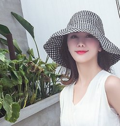 Garden Blocks NZ - South Korean chic can be folded artistic fisherman's hat day languid cotton and linen sun block hats sunshade hats