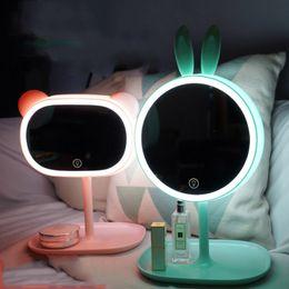 Discount Home Made Led Lamp Cartoon Creative Cute LED Makeup Mirror Desk  Lamp With Lights Desktop