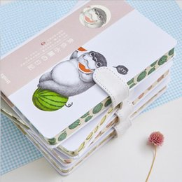 notebook hardcover 2019 - Creative Cute Animal Decoration Cover's Notebook With Lined Inner Pages School Student Hand Account Supplies Diary