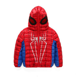 e85a6d576 Mask Jackets UK - 2017 New Fashion Kids Down Jacket For Boys Spider Man  Mask 90 Find Similar