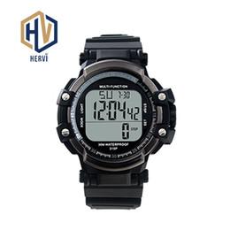 Digital Round NZ - Top Brand Luxury  Men Digital Sport Round Watch Alarm Fashion Backlight Electronic Automatic Clock Wristwatches H315P-C