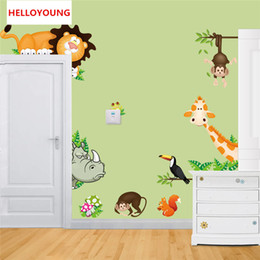 Nursery Stickers Jungle Australia - Lovely animal live in your home DIY wall stickers home decor Jungle Forest theme wall stickers for kids room home decor