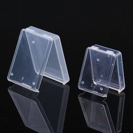 Discount white plastic package - mini portable Portable Multifunction Transparent plastic box small parts chip box coin packaging boxes fast shapping jc-