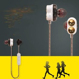 action sports brands 2019 - 2018 Dynamic Sound Wireless SPORT Headset Bluetooth CSR4.1 In-Ear Magnetic Resonator Double Action Ring fashion headset