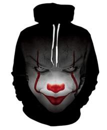 Großhandel 2018 Männer Clown zurück in die Seele des 3D-Digitaldruck Herren Kapuzenpulli