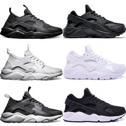 Discount cheap huaraches shoes - Huarache Ultra Running Shoes Men Women Triple White Core Black Red Cheap Huaraches Mens Athletic Sport Sneaker Size 5.5-